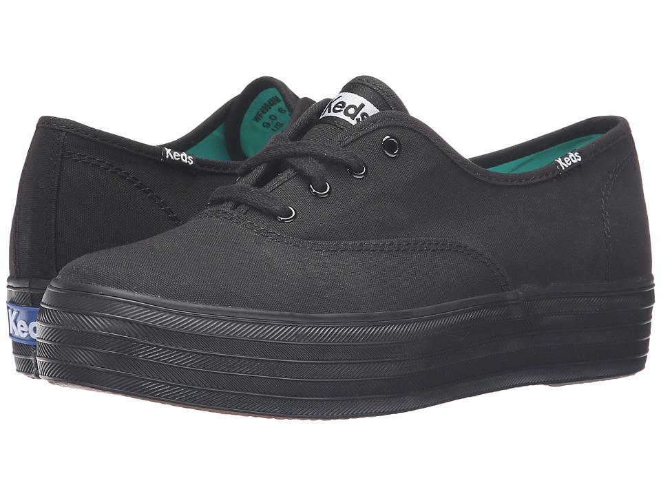 Keds - Triple Core (Black/Black) Women's Lace up casual Shoes