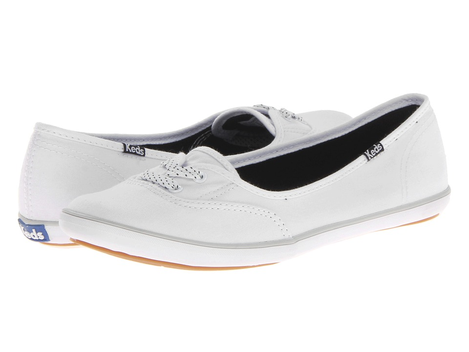 Keds - Teacup CVO Canvas (White) Women's Lace up casual Shoes