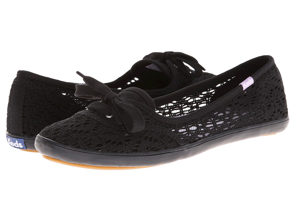 Keds - Teacup Crochet (Black) Women's Shoes