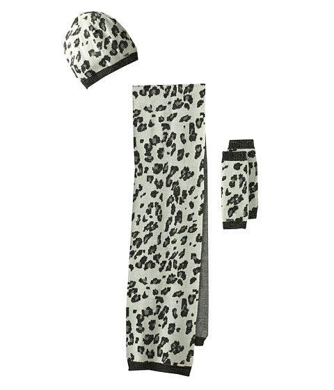 Calvin Klein - Leopard 3 Piece Set (Cr me) Scarves