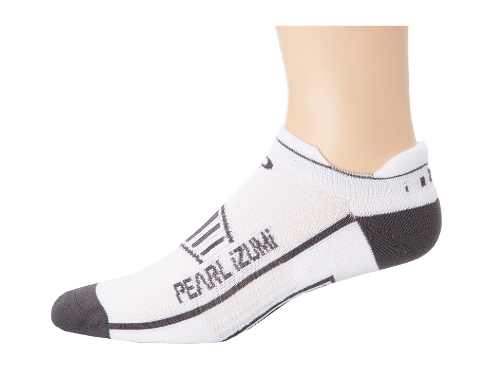 Pearl Izumi - Fly No Show Run Sock (White) Men's No Show Socks Shoes