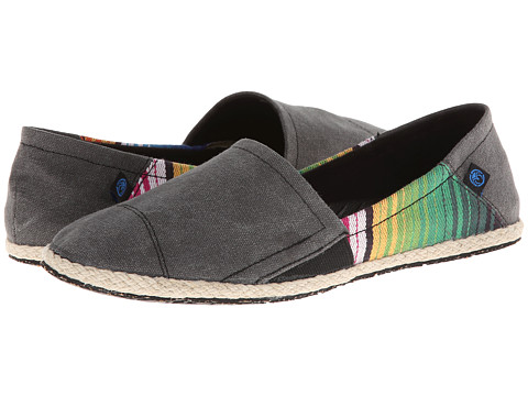 Ocean Minded Espadrilla Slip-On (Black/Multi) Women's Slip on  Shoes