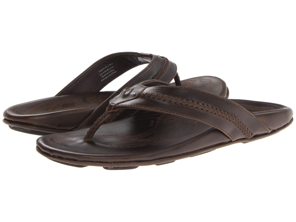 OluKai - Mea Ola (Seal Brown/Brown) Men's Sandals