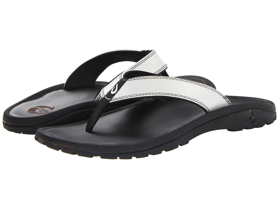 OluKai - Ohana Leather (Off White) Men's Sandals