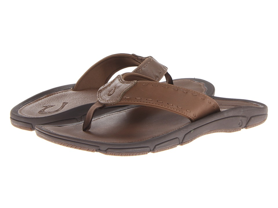 OluKai - Kai Ko Leather (Ginger/Ginger) Men's Sandals