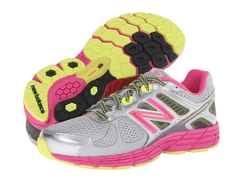 New Balance Kids - 860v4 (Little Kid/Big Kid) (Grey/Pink) Girls Shoes