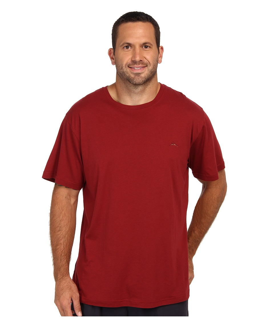 Tommy Bahama - Big Tall S/S Crewneck Cotton Modal T-Shirt (Garnet) Men