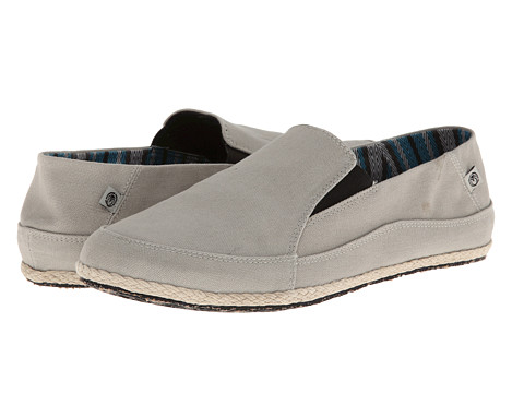 Ocean Minded - Espadrilla Washed Slip On (Light Grey/Black) Men