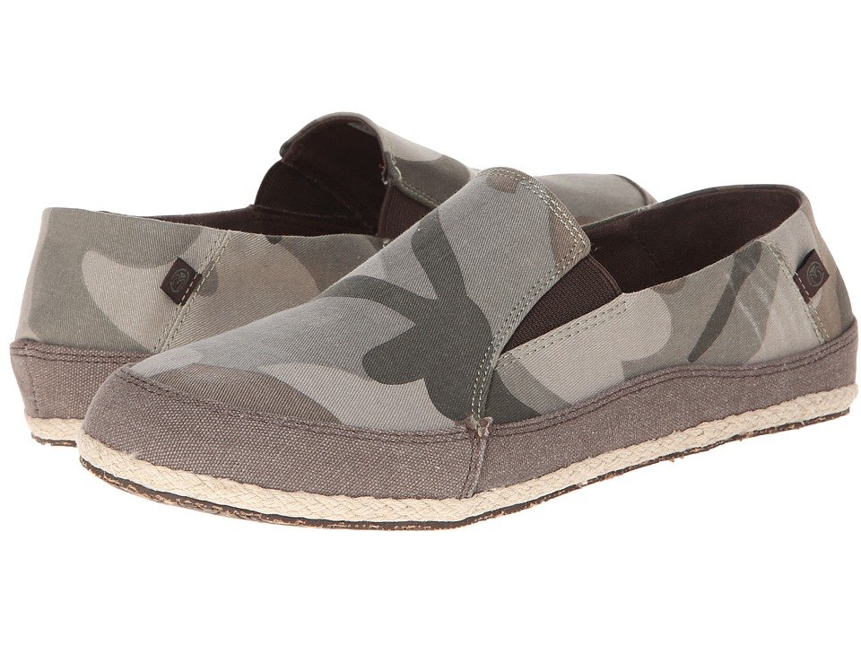 Ocean Minded - Espadrilla Washed Slip On (Camo/Espresso) Men's Slip on Shoes