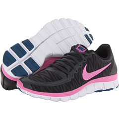 Nike Free 5.0 V4 (Black/Anthracite/White/Red Violet) Women's Shoes