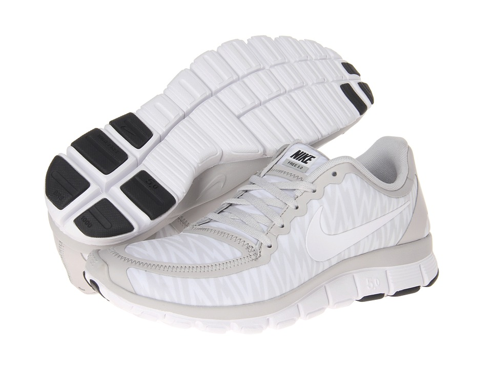 Nike - Free 5.0 V4 (Neutral Grey/White/Anthracite/White) Women's Shoes