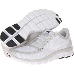 Nike Free 5.0 V4 (Neutral Grey/White/Anthracite/White) Women's Shoes