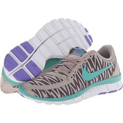 Nike Free 5.0 V4 (Medium Orewood Brown/Iron Ore/Atomic Violet/Diffused Jade) Women's Shoes
