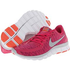 Nike Free 5.0 V4 (Bright Magenta/Hyper Fuchsia/Turf Orange/Wolf Grey) Women's Shoes
