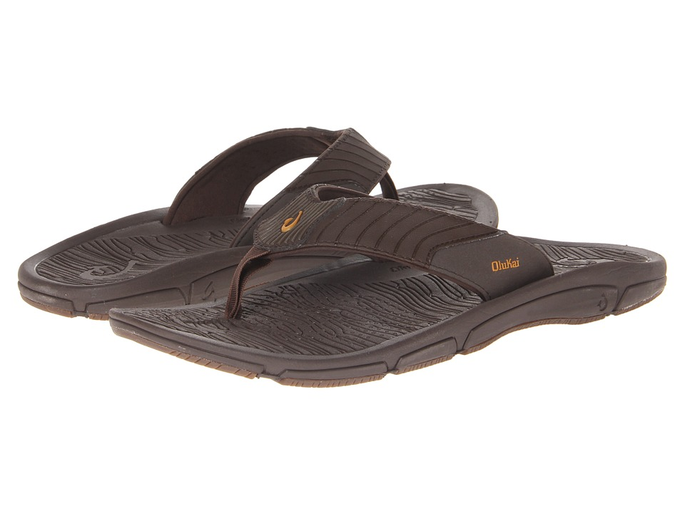 OluKai - Kai Ko (Dark Java/Molten Orange) Men's Sandals