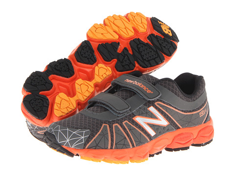 New Balance Kids - KG890v4 (Little Kid) (Grey/Orange) Boys Shoes