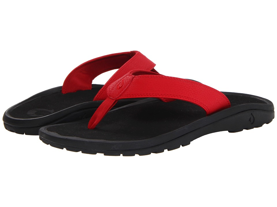 OluKai - Ohana (Sour Cherry/Black) Men's Sandals