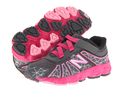 New Balance Kids - KV890v4 (Infant/Toddler) (Grey/Pink) Girls Shoes