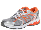 New Balance Kids KJ635 (Little Kid/Big Kid) (Grey/Orange)