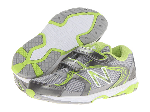 New Balance Kids - KG635 (Infant/Toddler) (Silver/Green) Boys Shoes