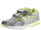 New Balance Kids KG635 (Infant/Toddler) (Silver/Green)