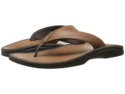 OluKai - 'Ohana Leather (Stallion/Stallion) Women's Sandals