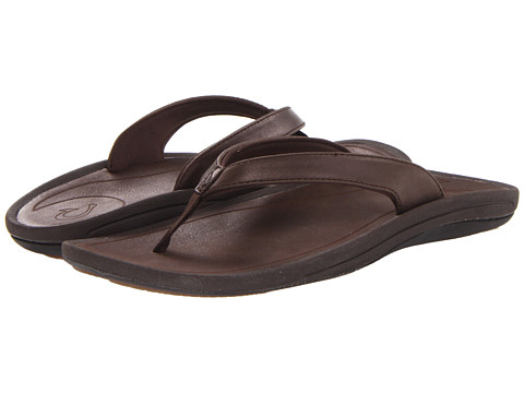 OluKai - Kulapa Kai Leather (French Roast/French Roast) Women