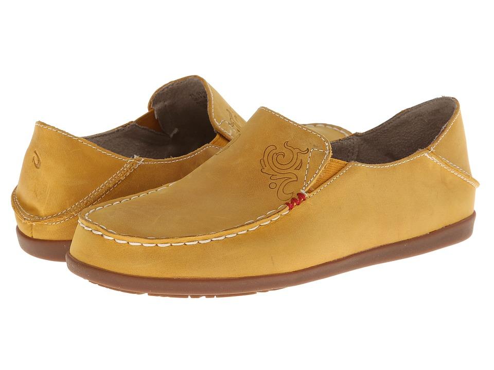 OluKai - Nohea Nubuck (Golden/Off White) Women's Slip on Shoes