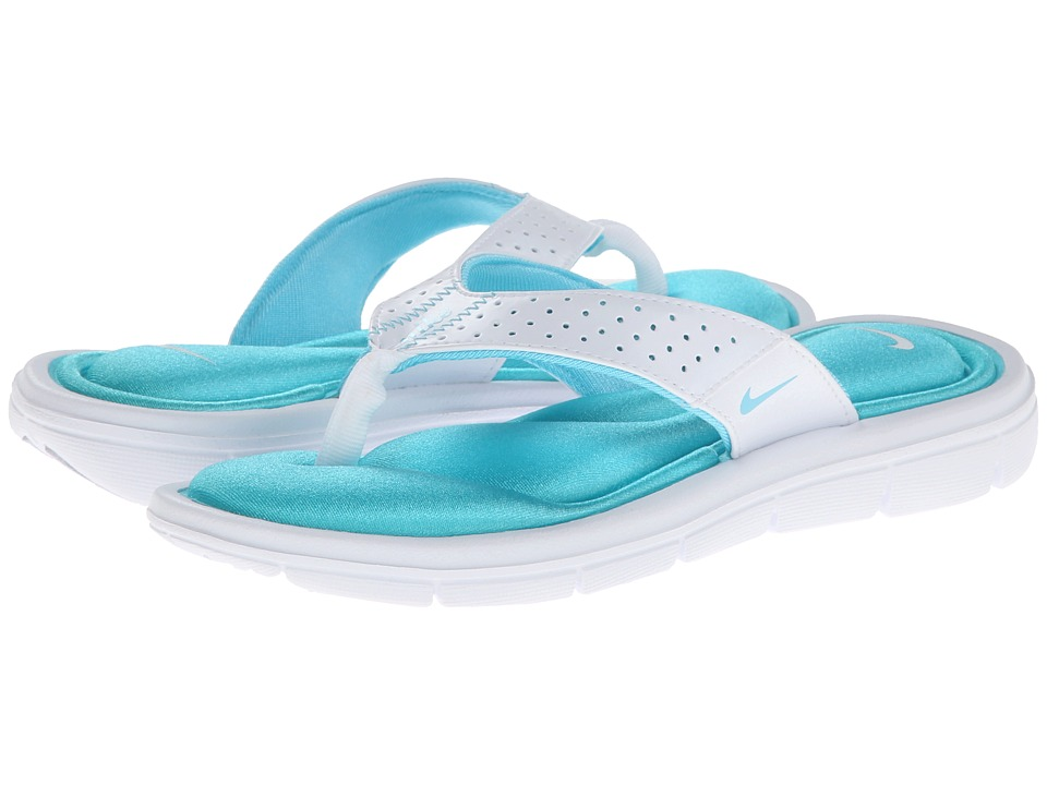 Nike - Comfort Thong (White/Polarized Blue) Women's Sandals