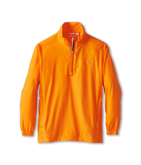PUMA Golf Kids - Half Zip Wind Jacket (Big Kids) (Vibrant Orange) Boy