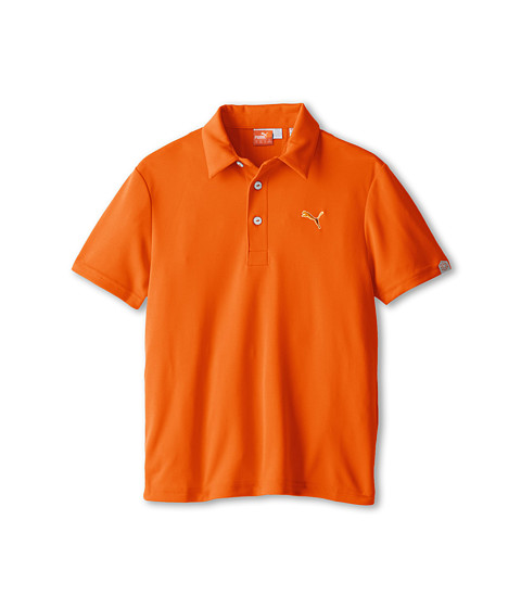 PUMA Golf Kids - Tech Polo (Big Kids) (Vibrant Orange) Boy's Short Sleeve Pullover