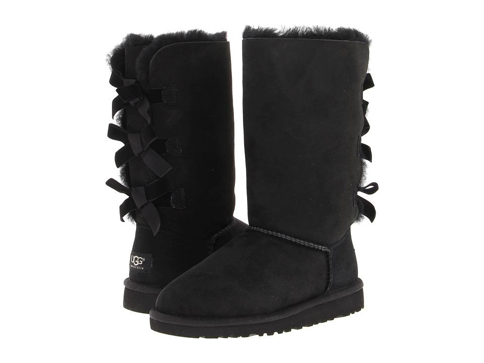 UGG Kids - Bailey Bow Tall (Little Kid/Big Kid) (Black) Girls Shoes
