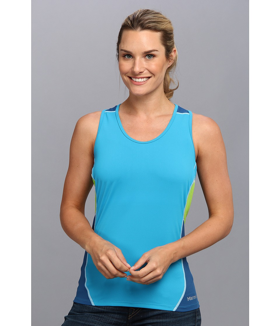 Marmot - Interval Tank (Atomic Blue/Blue Sapphire) Women's Sleeveless