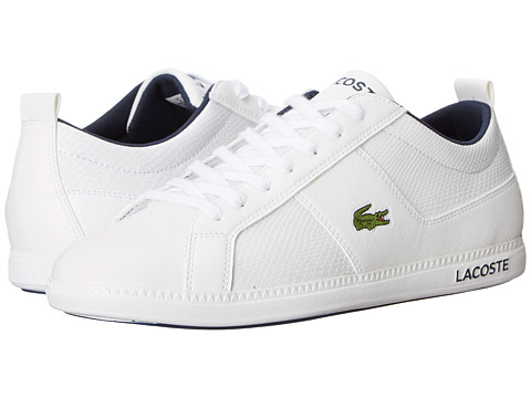 Lacoste - Observe Ca (White Navy) Men's Lace up casual Shoes