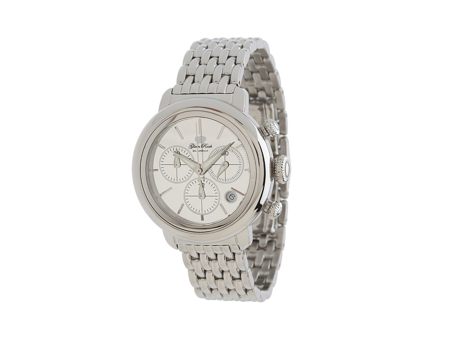 Glam Rock - 40mm Stainless Steel Chronograph Watch with 7-Link Bracelet - GR77116 (Stainless Steel) Watches