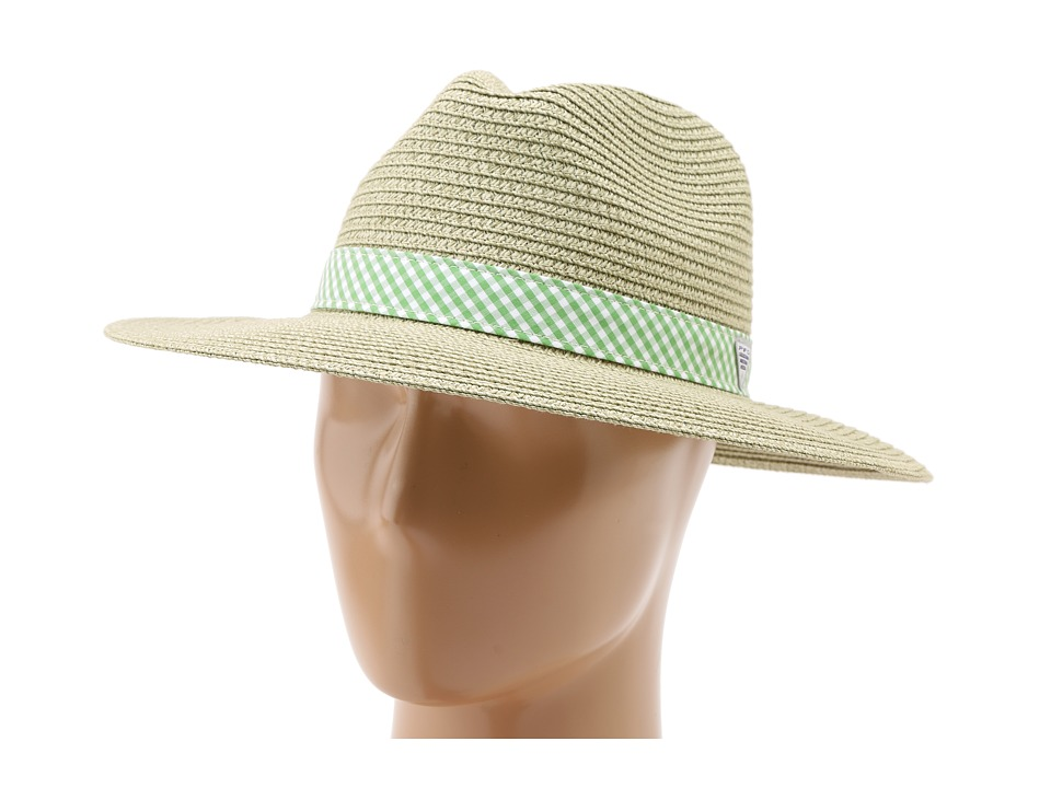 Columbia - PFG Bonehead Straw (Fossil/Clean Green Gingham) Caps