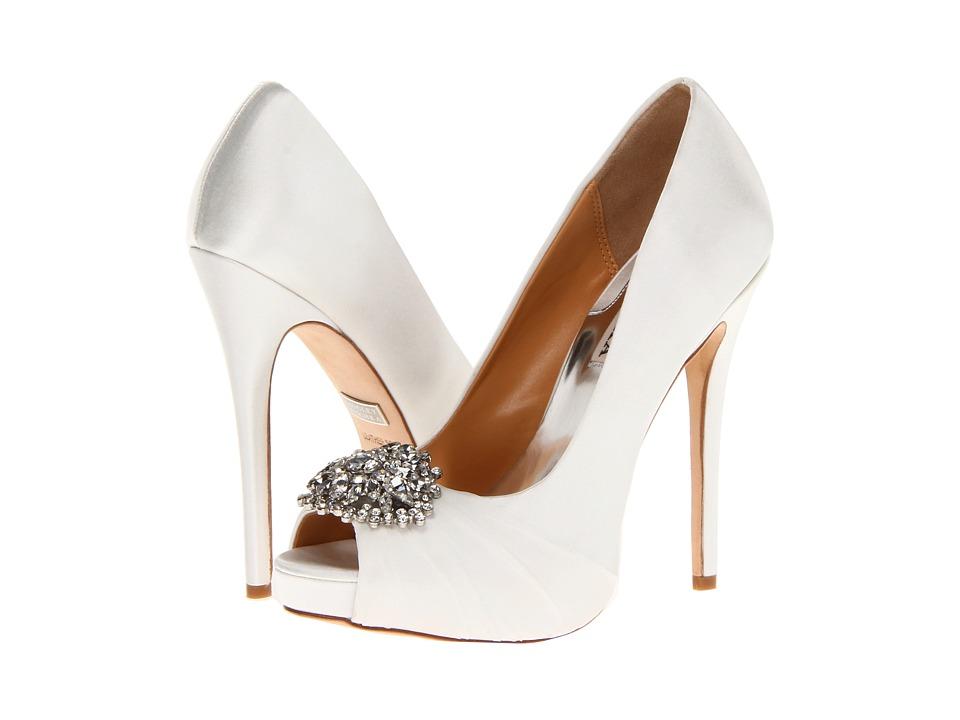 Badgley Mischka - Pettal (White Satin) High Heels