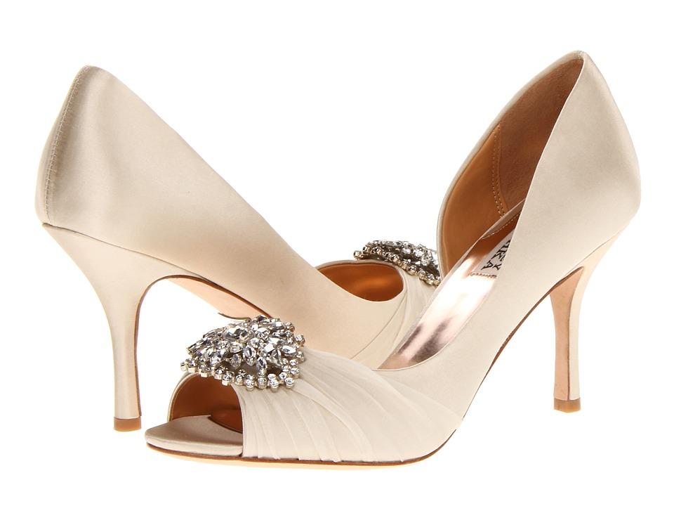 Badgley Mischka Pearson (Vanilla Satin) High Heels