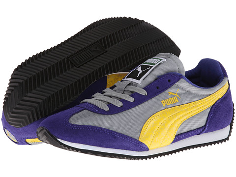 PUMA - Puma SF77 Hologram (Limestone Gray/Spectrum Blue/Vibrant Yellow) Women's Shoes