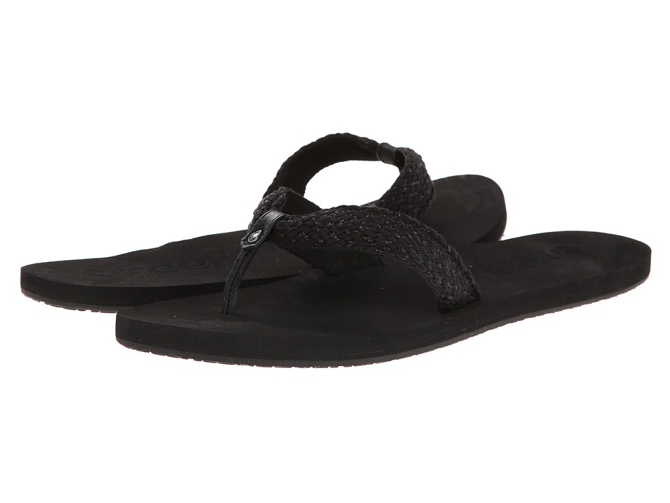 Reef - Mallory Scrunch (Black/Metallic) Women's Sandals