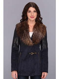SALE! $90.18 - Save $46 on Jessica Simpson Faux Shearling Coat w Faux Fur Collar (Navy) Apparel - 33.69% OFF $136.00