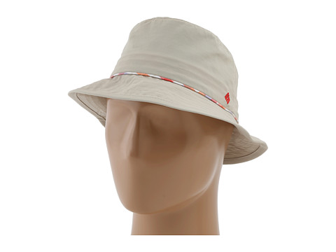 Columbia - Bahama Bucket Hat (Fossil/Hot Coral Plaid) Bucket Caps