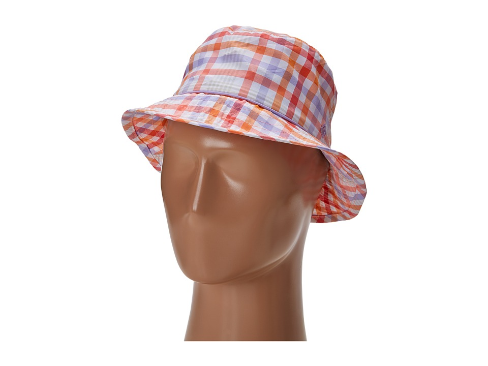 Columbia - Bahama Bucket Hat (Hot Coral Plaid/Whitened Violet) Bucket Caps