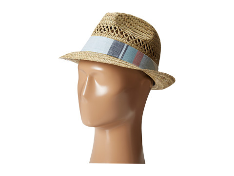 Columbia - Sun Drifter Straw Hat (Natural/Inkling Plaid) Fedora Hats