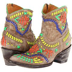 Old Gringo Apache Zipper (Bone) Footwear