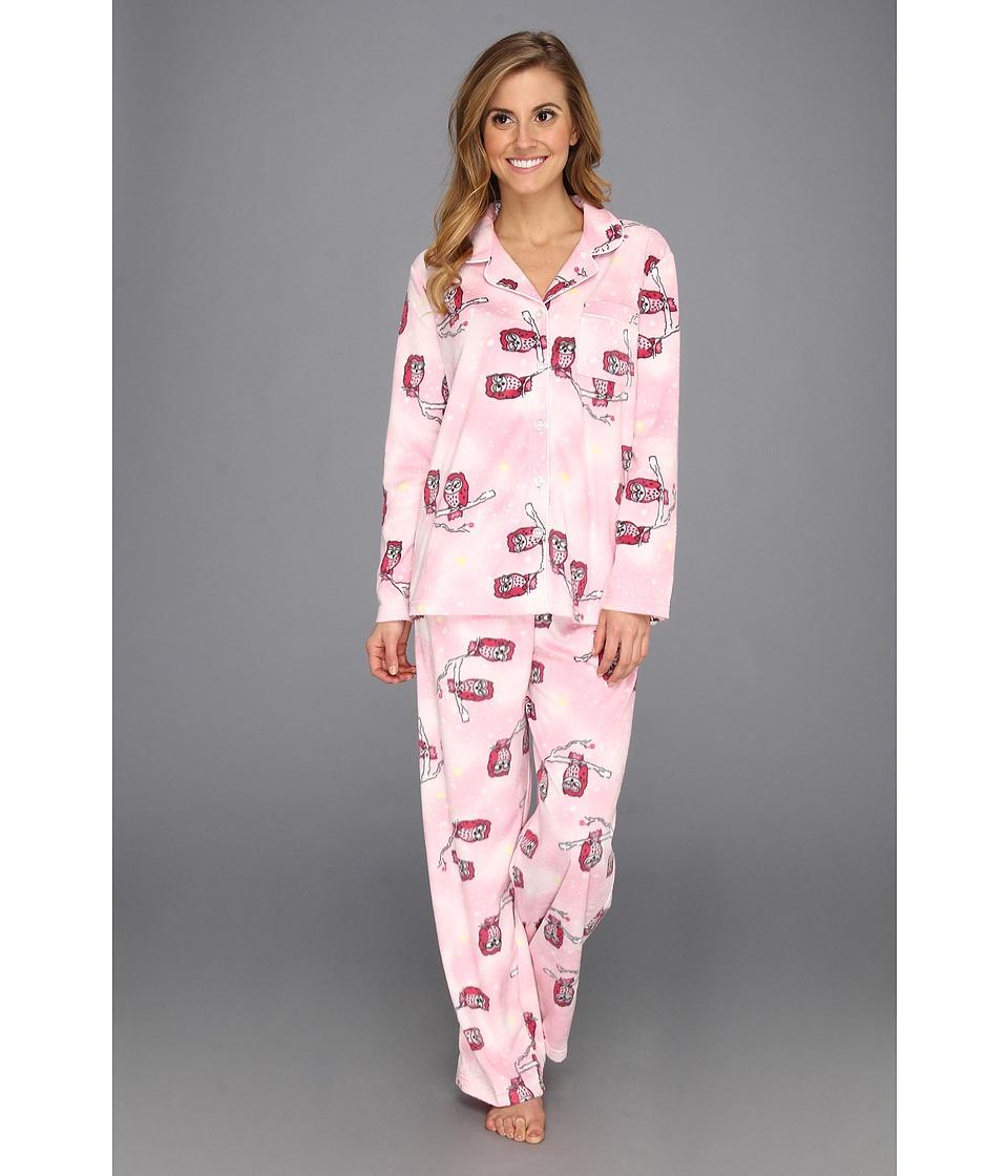 e12d8e1d311 Karen Neuburger Microfleece L S Girlfriend PJ Womens Pajama Sets (Multi)