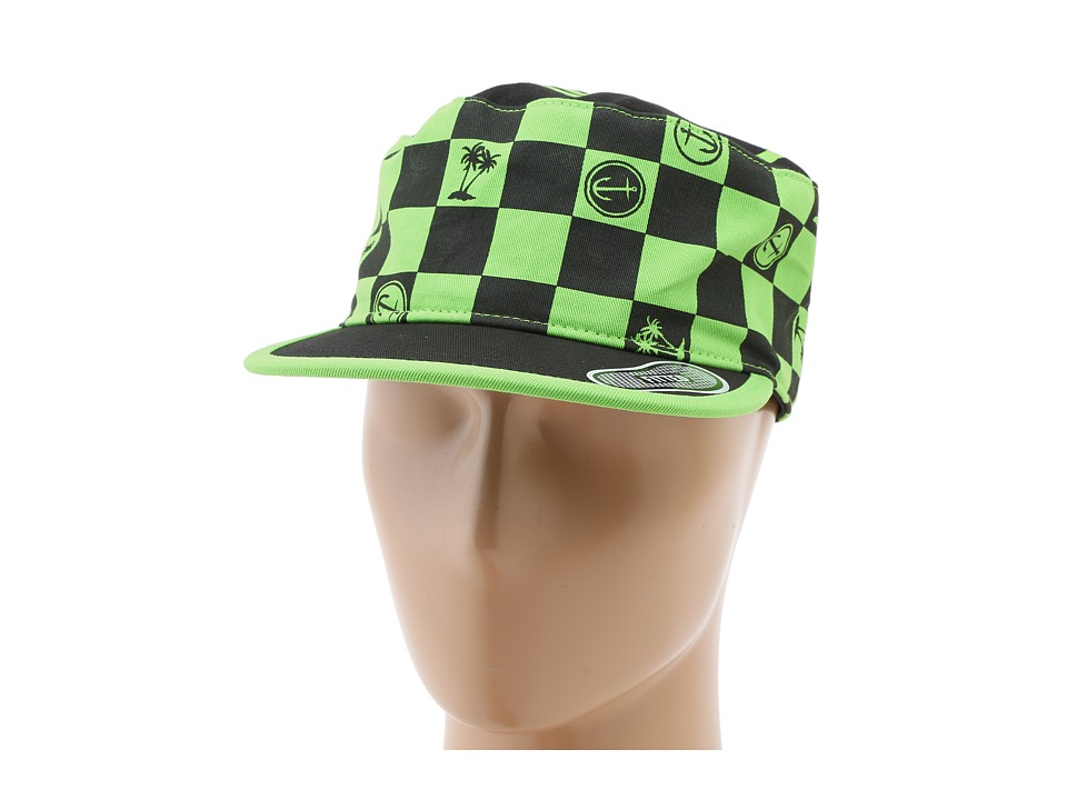 Vans - Captain Fin Painters Cap (Neon Green/Black) Baseball Caps
