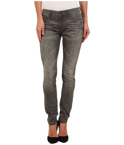 Mavi Jeans - Alexa Printed Mid-Rise Skinny in Grey Lace (Grey Lace) Women