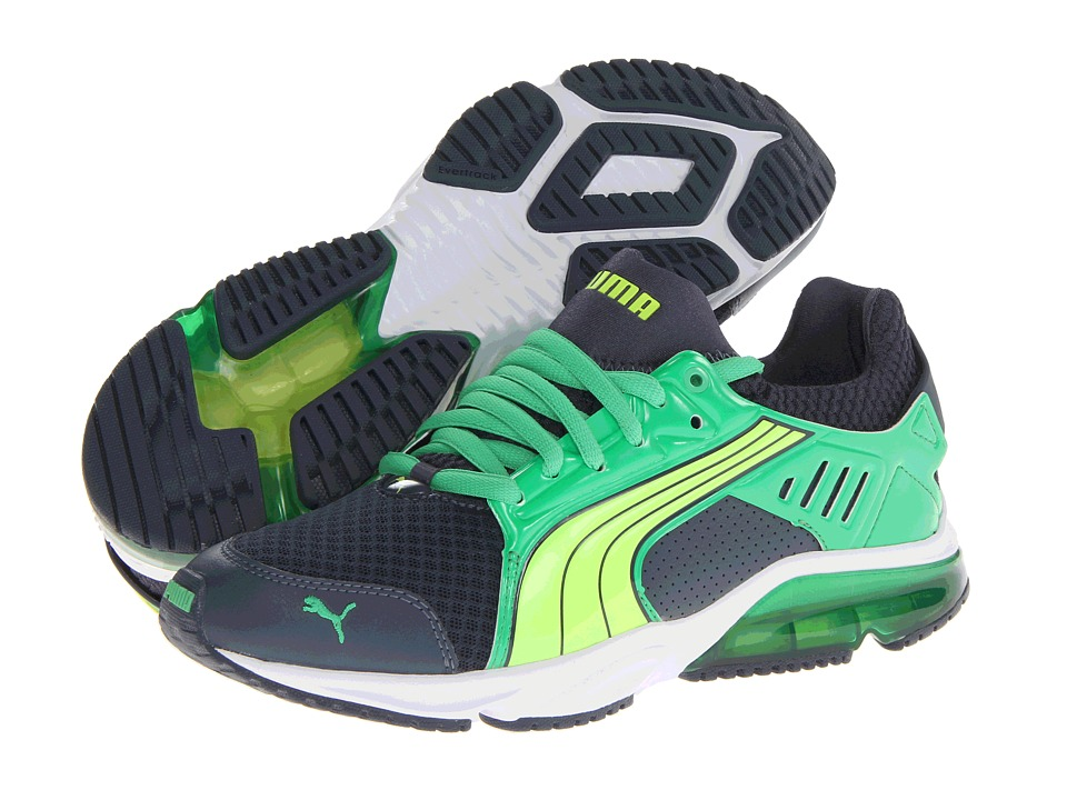 PUMA - PowerTech Blaze Met NM (Ombre Blue/Island Green/Fluro Yellow) Men's Shoes