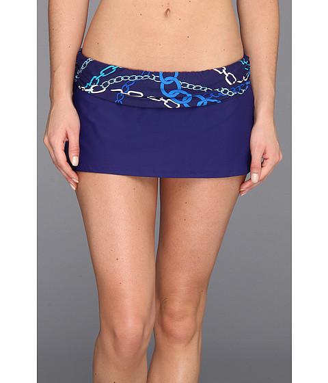 Bleu Rod Beattie - Linked In Shirred Skirted Hipster Bottom (Midnight Blue) Women
